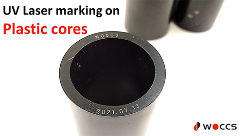 UV Laser marking on plastic cores
